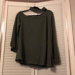 Pinkblush Asymmetric Off The Shoulder Sweatshirt